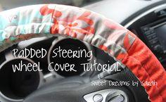 30-Minute Gift: Padded Steering Wheel CoverTutorial on the Moda Bake Shop. http://www.modabakeshop.com