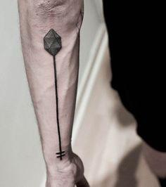 nice Geometric Tattoo - 150 Stunning Arrow Tattoo Designs and Meanings Arrow Tattoos, Line Tattoos, Great Tattoos, Trendy Tattoos, Beautiful Tattoos, Tattoos For Guys, Sleeve Tattoos, Tattoo Ink, Sick Tattoo
