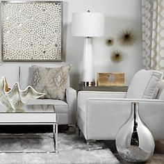 Mixed metallics add modern appeal.