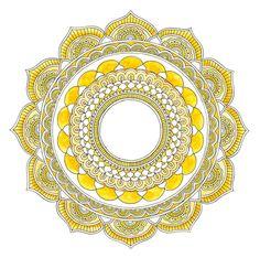 SOLAR PLEXUS CHAKRA MANDALA Key Words:  Self Esteem ~ Positive ~ Confident ~ Empowered ~ Energetic