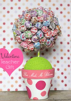 You Make Me Bloom Teacher Valentine by The Pinning Mama #plaidcrafts #ad #Valentinesday