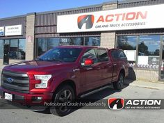 Contour III series cap installed on this beautiful Ruby Red Pearl Tri-coat F150