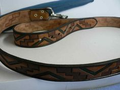 Handmade leather leash by AcrossLeather on Etsy