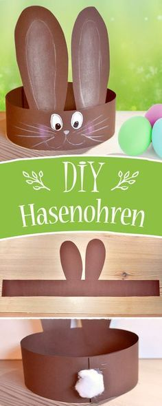 Even small children can easily tinker with these Easter Bunny ears. Even small children can easily tinker with these Easter Bunny ears. Hat Crafts, Easter Crafts For Kids, Toddler Crafts, Diy For Kids, Paper Crafts, Easter Activities, Craft Activities, Preschool Crafts, Spring Crafts