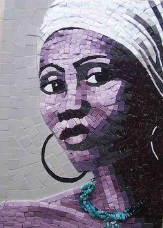 mosaic lady    #mosaic