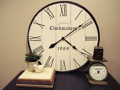 How to make a large wall clock from Behind The Red Barn Door