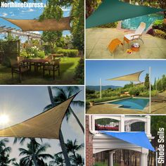 Sail into relaxation with these shade sails from Northline Express 🌴☀️⛵