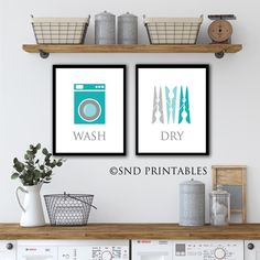 Excited to share this item from my #etsy shop: Wash Dry Fold Repeat Set of 4 - Printables in 8 x 10 and 12 x 16 - Wall Decor Digital download - Laundry Wall Art Decor, Wall Decor, Shop Decoration, Mid Century Retro Chair, Kitchen Wall Art, Laundry Wall Art, Laundry Printables, Printable Wall Art, Decorating Your Home