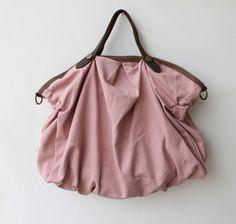Grosse Stofftaschen Tote mit Schultergurt - Pink
