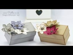 2015 Stampin' Up! Demonstrator Pootles - Softened Floral Box Tutorial Dimensions when finished – 2 x 2 x x 5 x Diy Gift Box, Gift Boxes, Origami Templates, Box Templates, Gift Box Packaging, Envelope Punch Board, Card Tutorials, Craft Fairs, Making Ideas