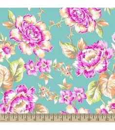 Jennifer Paganelli Quilt Fabric- Katie Lady Large FloralJennifer Paganelli Quilt Fabric- Katie Lady Large Floral,