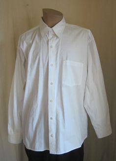 ORVIS Men's White Grid Pattern Long Sleeve Button Front Shirt XL XLarge #Orvis #ButtonFront