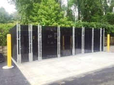 Commercial Chain Link Dumpster Enclosure