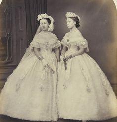 Princess Helena and Princess Louise as bridesmaids (1850's-1860's)