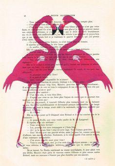 Flamingo heart - Print Artwork - product images  of