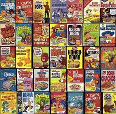 Oh the memories in the cereal aisle. Do you remember that the single serving boxes could be used as your bowl?