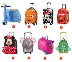 Voor de KIDS! Met deze koffers willen de kinderen en kleinkinderen het liefst elke dag op vakantie!