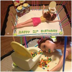 21st Birthday Barbie Cake
