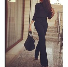 Love this! Black sleek chic. Love the fit and length.