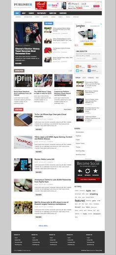 Publisher WordPress News Magazine Theme