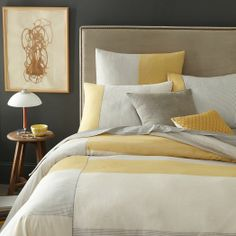 Steven Alan Stripe Duvet Cover + Shams - Golden Gate | west elm