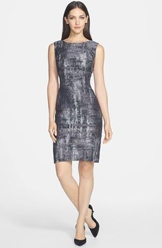 Free shipping and returns on Lafayette 148 New York 'Angelina' Jacquard Sheath Dress at Nordstrom.com. Crafted from shimmering Italian jacquard, a bateau-neck shift with timeless appeal gets a twist of day-into-night shine.