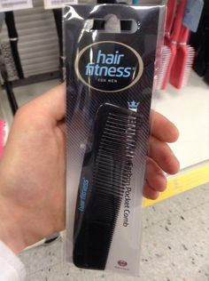 This comb can only comb men's hair. Sorry ladies.