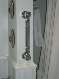 grab bar outside shower wall  #aginginplace  #homewithoutage