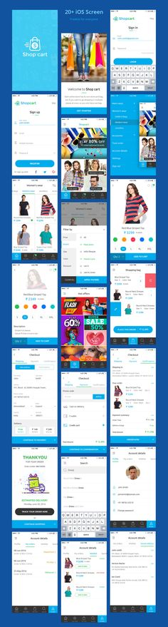 Free UI PSD for eCommerce Mobile App More PSD: 72pxdesigns
