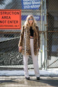 Kerry Pieri in Aritzia coat   - HarpersBAZAAR.com
