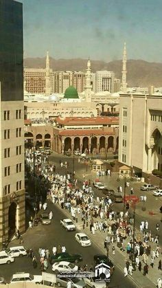 To Gate 15 Masjid Nabawi. Viewed from my hotel room. Masjid Haram, Al Masjid An Nabawi, Mecca Masjid, Islamic Images, Islamic Pictures, Islamic Quotes, Medina Mosque, History Of Islam, Mekkah