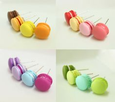 French Macaron Earrings - WANT!!!! I almost put them on the cooking page...