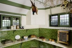 The Larder with a food safe at Wightwick Manor, Wolverhampton, West Midlands.jpg (450×299)
