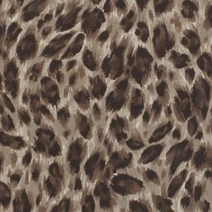 """Brown Black Leopard Cotton Spandex Knit Fabric - A super soft cotton jersey with spandex knit in an on trend animal print design in brown, sand, and black leopard spots.  Fabric is light to medium weight with a smooth hand and great 4 way stretch.  Spots measure about 1"""" wide.  ::  $6.50"""