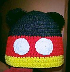 Mickey mouse crochet beanie