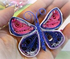 Radiant Quilled Butterfly | AllFreePaperCrafts.com
