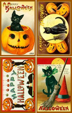 Olde America Antiques   Quilt Blocks   National Parks   Bozeman Montana : Halloween - Halloween Set 8