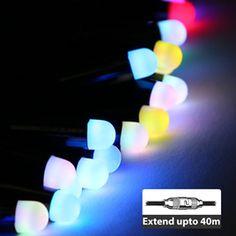 ce78c8e7aeda6 Connectable LED Bullet Fairy String Lights 5M - Multicolor Solar Fairy  Lights, Outdoor Fairy Lights