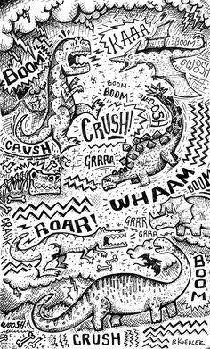 Dinosaur Illustration Print