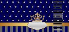 Corona Dorada en Azul y Brillantes: Invitaciones para Bodas para Imprimir Gratis. Free Printable Wedding Invitations, Party Printables, Free Printables, Royal Theme, Alphabet Letters Design, Party Kit, Cool Art Drawings, Lettering Design, Blue Gold