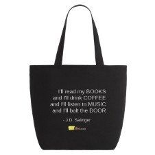 Salinger Zippered Tote Bag $29.99 CAD https://www.thenovelreader.com/collections/bookish/products/salinger-zippered-tote-bag