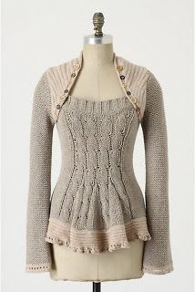 Anthro sweater..... but easily done with a couple of old sweaters that need re-vamping!
