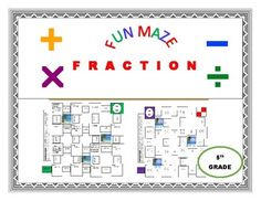 Students practice adding, subtracting, multiplying and dividing fractions using a MAZE. A fun activity for students to REVIEW Fractions. A great activity to keep students engaged. This product includes: A Fun Coloring Maze KEY/SOLUTION