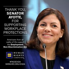 New Hampshire residents -- Pin and thank Senator Ayotte for supporting workplace protections! #PassENDA www.hrc.org/ENDA