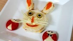 Sandwiches con decoracion, divertidos para niños y fiestas, via YouTube.
