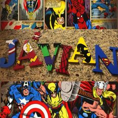 [New] The 10 Best Craft Ideas Today (with Pictures) - Marvel Custom Wooden Letters Wooden Name Letters, Diy Letters, Nursery Letters, Nursery Name, Painted Letters, Avengers Names, Marvel Names, Character Letters, Boy Character