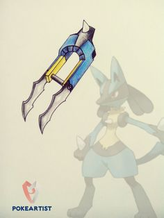 Lucario weapon by xldollboylx on DeviantArt