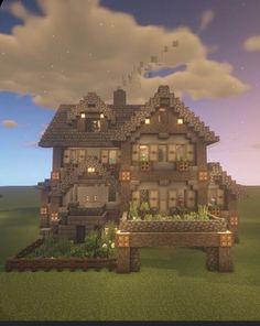 Villa Minecraft, Architecture Minecraft, Minecraft House Plans, Minecraft Structures, Minecraft Houses Survival, Easy Minecraft Houses, Minecraft House Tutorials, Minecraft Houses Blueprints, Minecraft Mansion