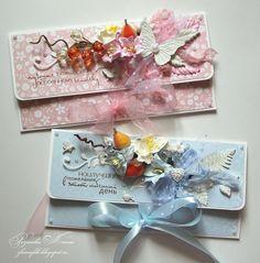 My Hobby: Происшествие и открытки-конвертики :) How To Make An Envelope, Diy Envelope, Envelope Design, Decorated Envelopes, Handmade Envelopes, Money Envelopes, Card Envelopes, Anniversary Greeting Cards, Shaped Cards