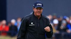 2013 Open Championship winner Phil Mickelson backed up an opening 63 with a solid 69 at Royal Troon. Matthew Lewis, Phil Mickelson, Round Two, Rain Suit, Carry On, Adidas Jacket, Hand Luggage